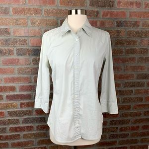 J. Crew Solid Three-quarter Sleeve Stretch Shirt
